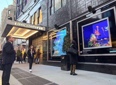 Bloomingdales NYC WIndow Collaboration with Artist Aurora Robson