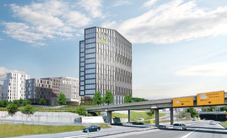 Informasjon om nytt kontorbygg i Lørenveien