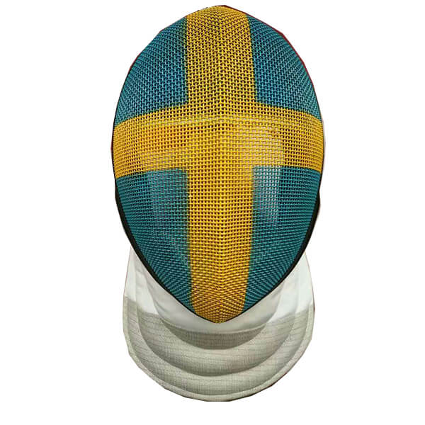 Foil mask with flag