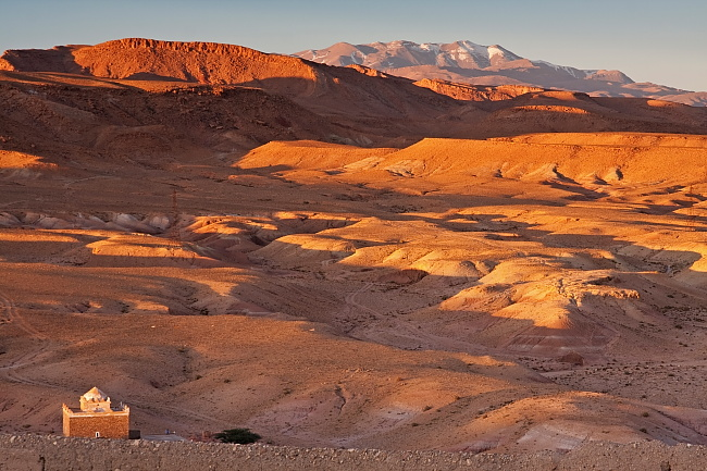 View from Ait Benhaddou on High Atlas