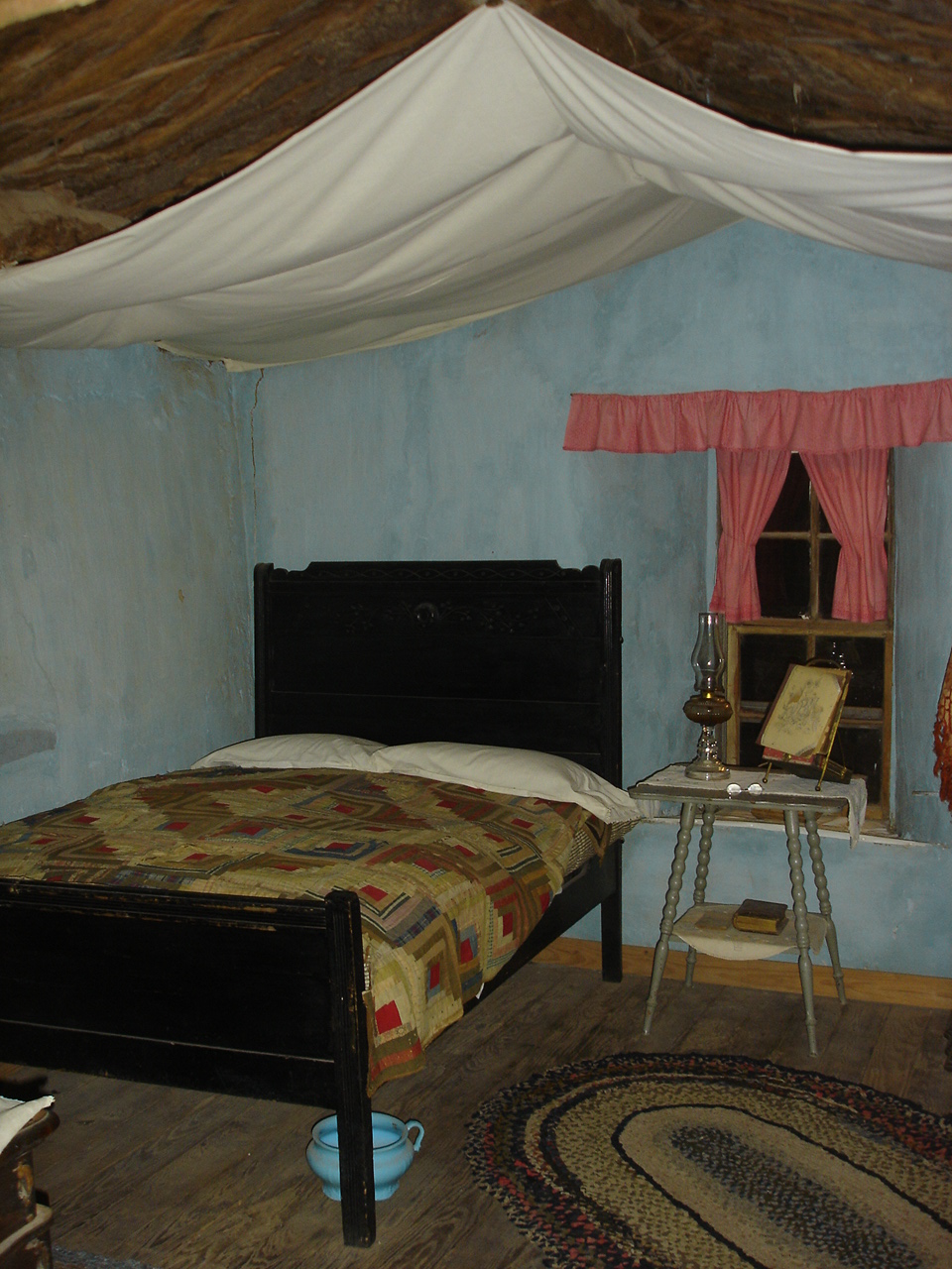 sod house bed with