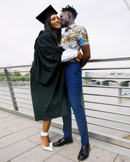 Mr Eazi Shared A Passionate Kiss With Temi Otedola On Her Graduation Day - Photo
