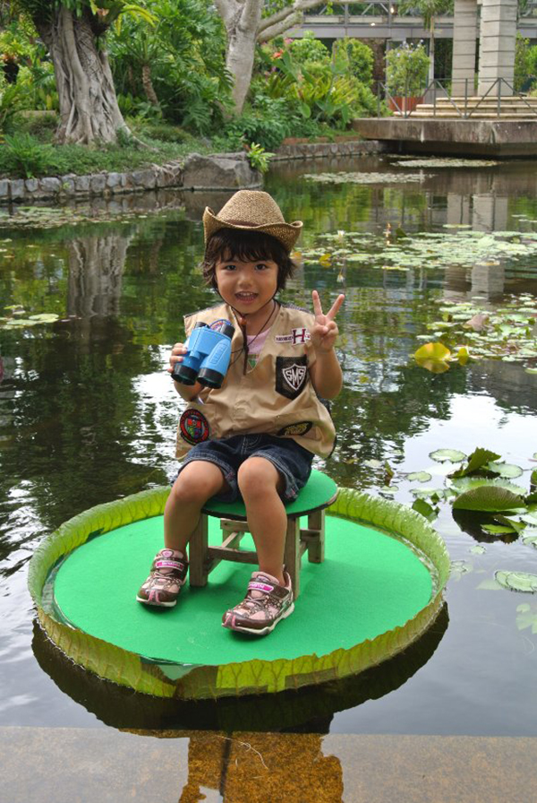 Hop on a water lily pad Ocean Expo ParkOkinawa Island Guide