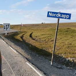 Wjazd na Nordkapp