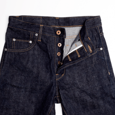 RAW Japanese denim jean womens , with step hem