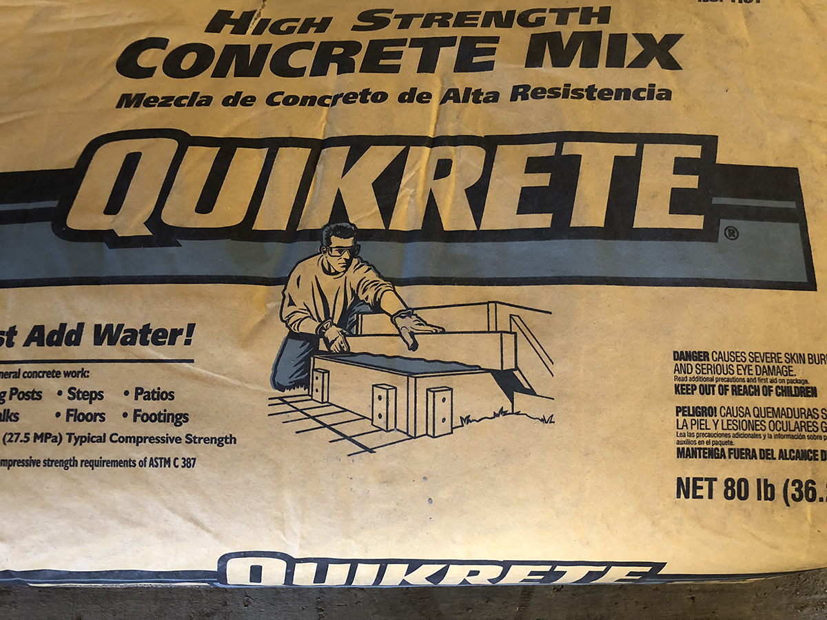 Quikrete 80 Lb Bags Of Concrete Oklahoma Lumber Supply