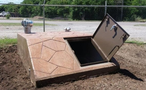 Your underground storm shelter is a great storage space for valuables and even food supplies.