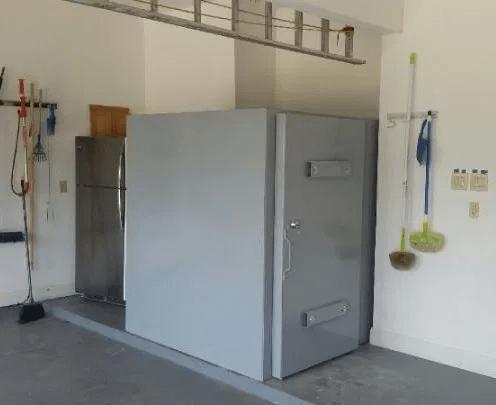 a steel safe room