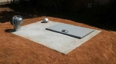 a concrete storm shelter