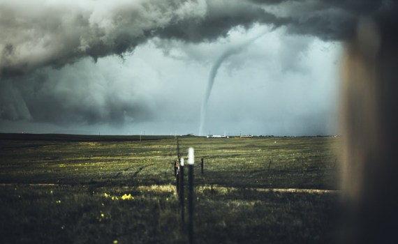 A tornado coming toward Oklahoma City.