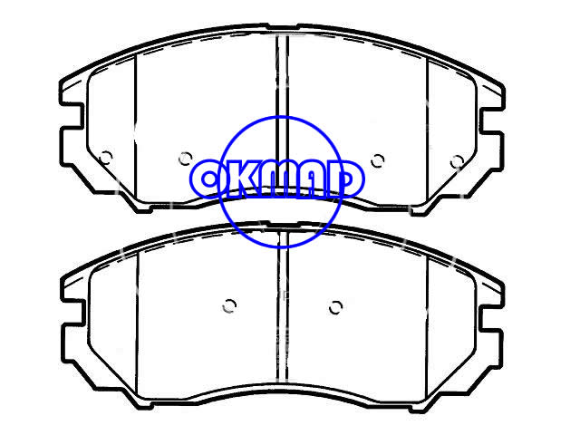 HYUNDAI Tiburon SE Brake pad FMSI:8210-D1104 OEM:58101