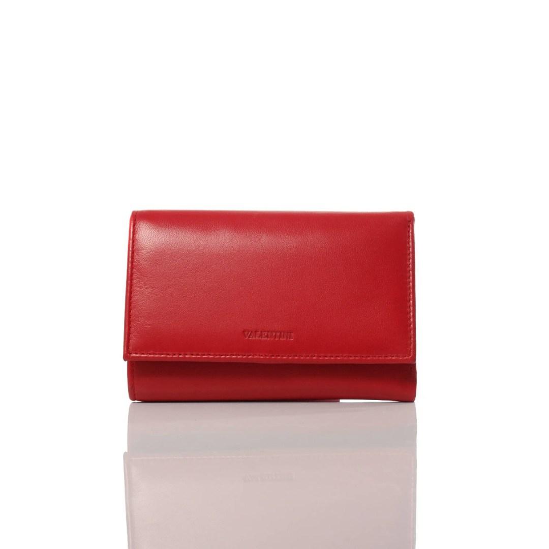 Art. 7707 Portafogli pelle donna rosso