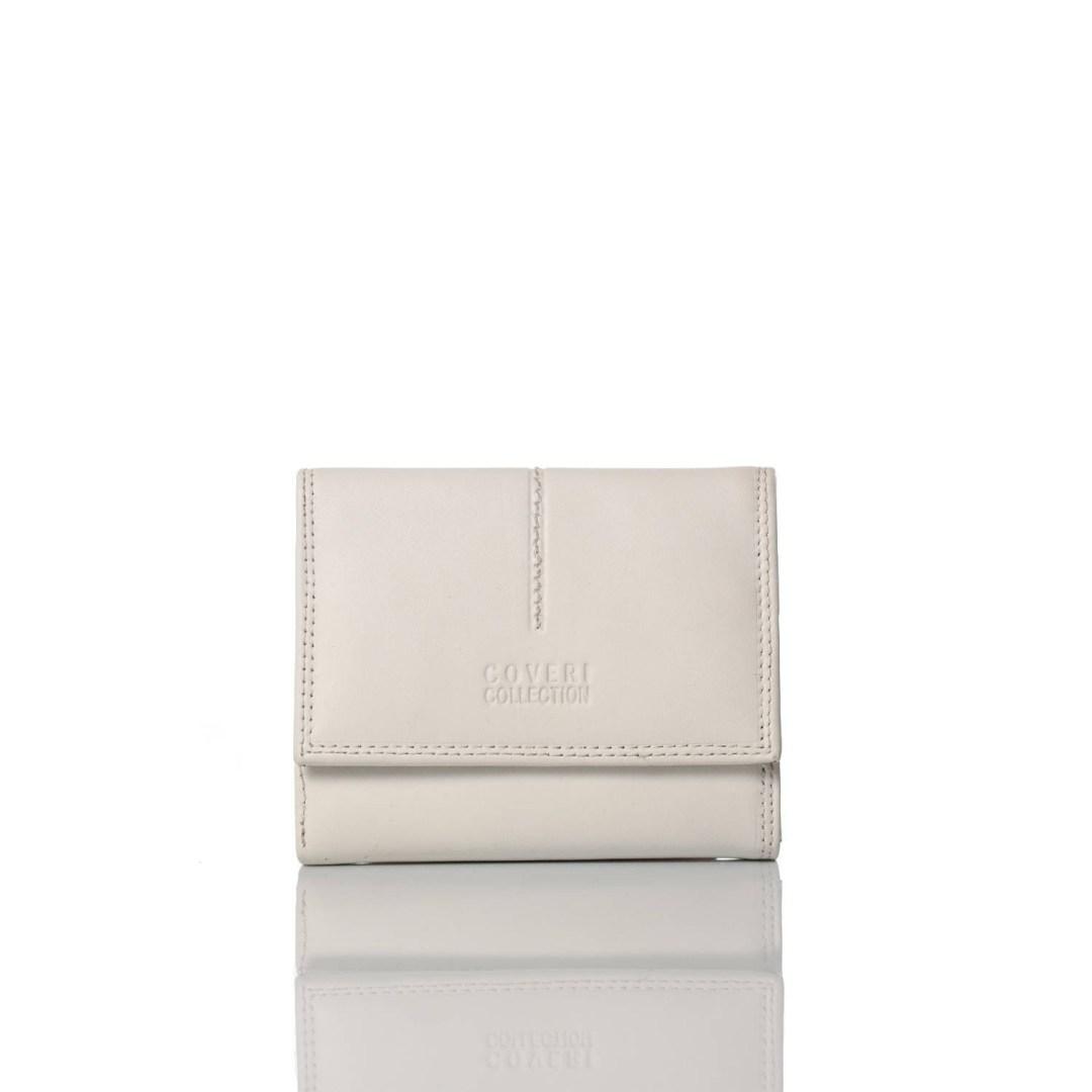 Art. 7792 Portafogli bianco di pelle donna coveri