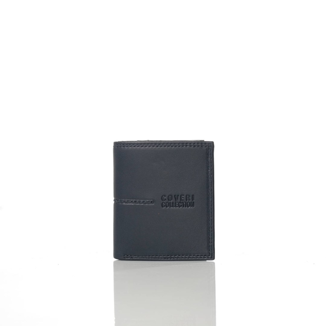 Art. 7815 Portafogli portacarte grigio di pelle uomo