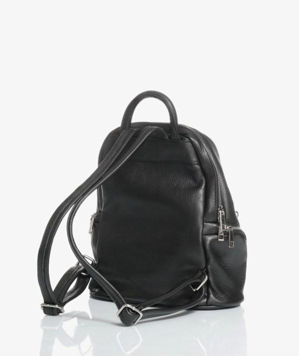 zaino city bag in pelle nero