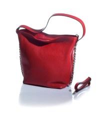 petit sac rossa in vera pelle