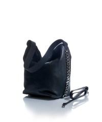 Petit sac nera in vera pelle