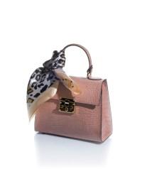 borsa bauletto rosa in vera pelle