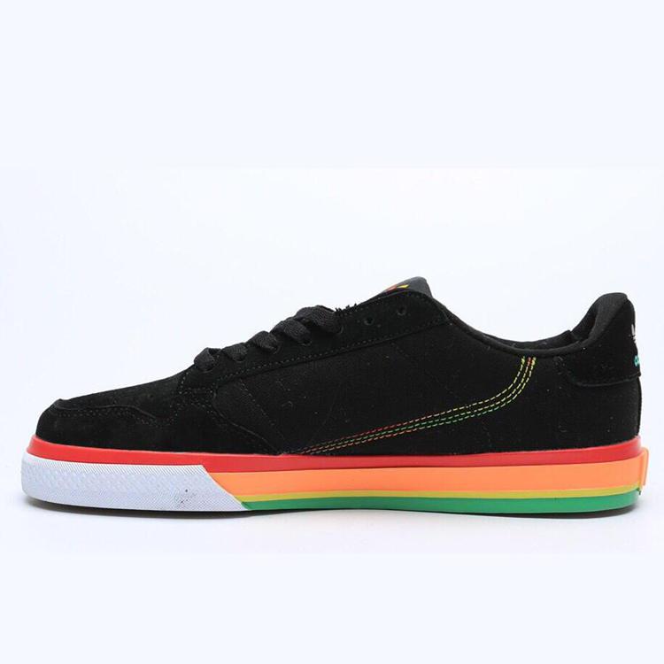 ADIDAS CONTINETAL VULC UNISEX 潮流休閒鞋 情侶款 黑彩虹_品牌幫-運動鞋