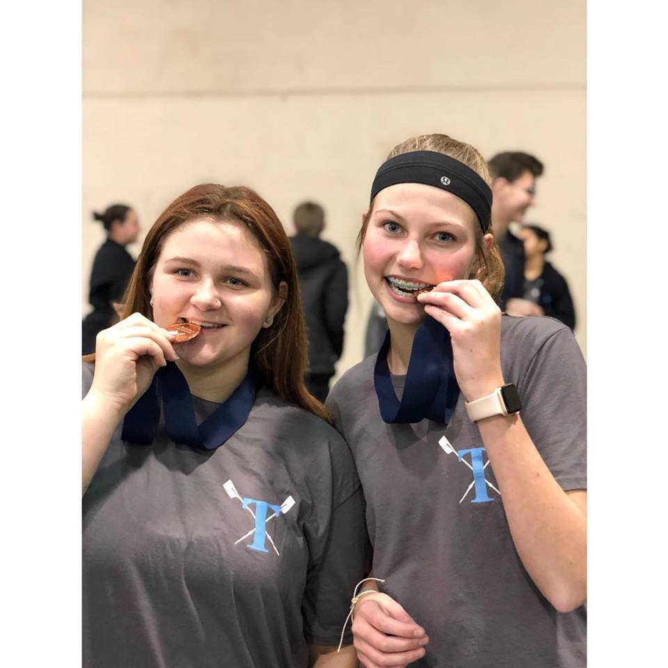 OKC Riversport Indoor Challenge Tulsa Youth Rowing Association Medal Winners