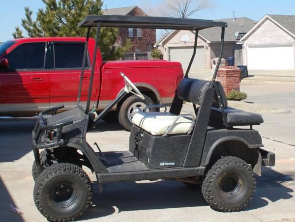 Lifted off road Yamaha Golf Cart Gas Oklahoma Shooters