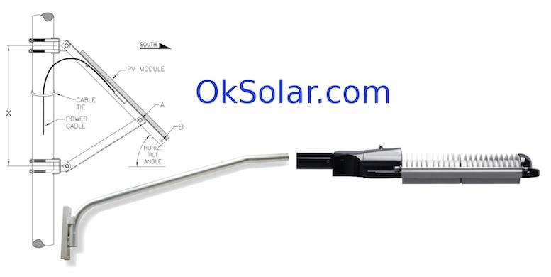 Bullet Proof Solar LED Street Light 40 Watts LED