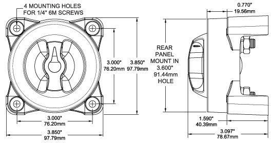 On/Off Battery Switch Selector