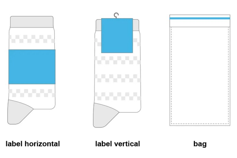 Socks Label Carton Package Mockup Guide