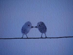 Parmakizi ile Kuş Resmi