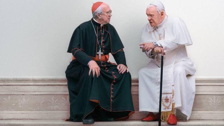 İki Papa / The Two Popes filminden bir görüntü.