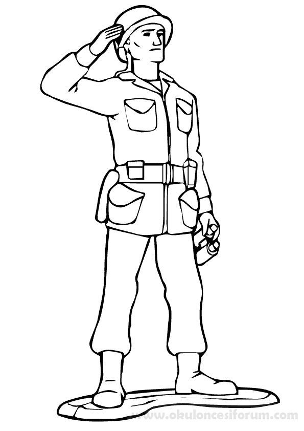 Soldier Camo Coloring Pages