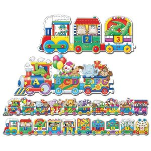 Çift Taraflı Puzzle ABC 123 Tren