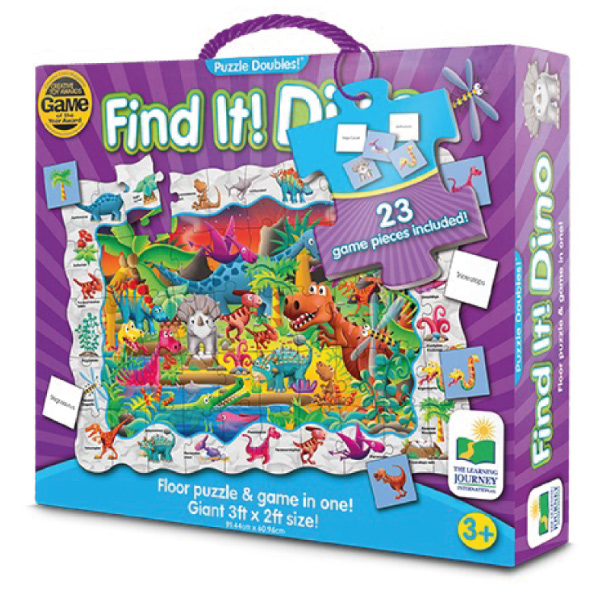 Çift Taraflı Puzzle Dinozor