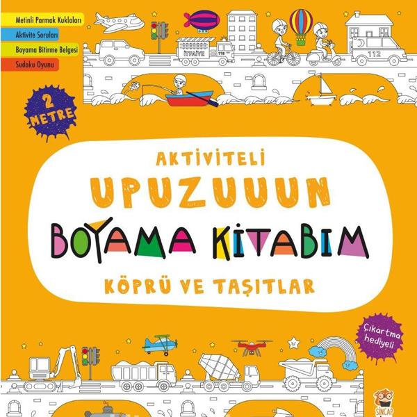Upuzuuun Boyama Kitabım Köprü Ve Taşıtlar Okulyapı Online Satış