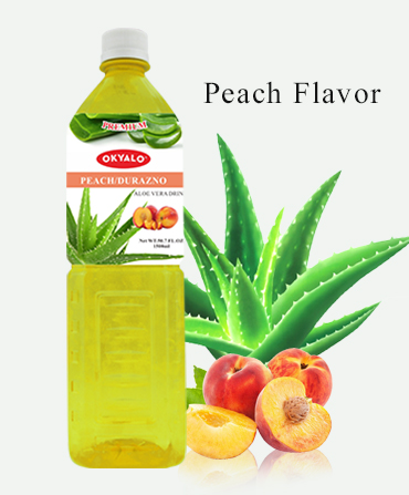 peach aloe drink