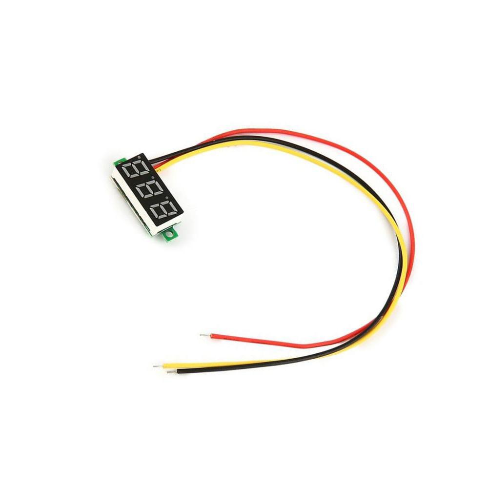 3 wire 0.28″ DC 0-100V Digital Voltmeter LED Voltage Volt
