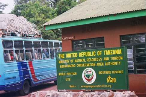 Entrée du parc de Ngorongoro