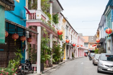 Une rue colorée