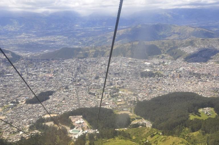 Quito, vue à l'arrivée du téléphérique (4100m)