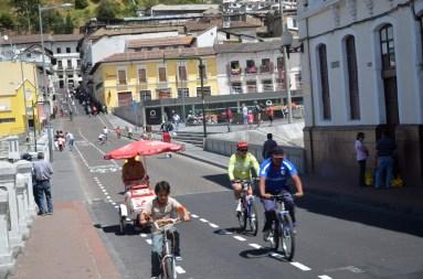 Cyclistes centre historique