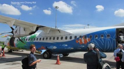 L'avion Luang-Prabang à Chiang-Mai