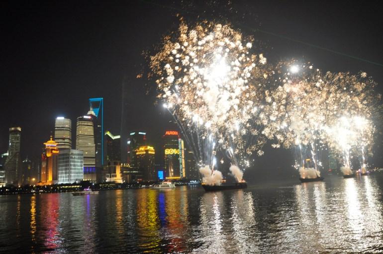 Shanghai feu d'artifice