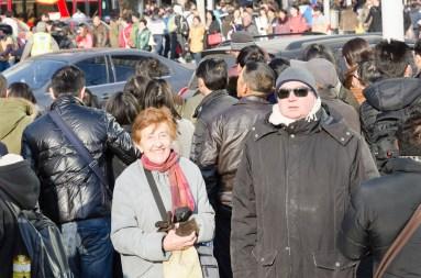 Nanjing Rd : il fait froid l'hiver à Shanghai