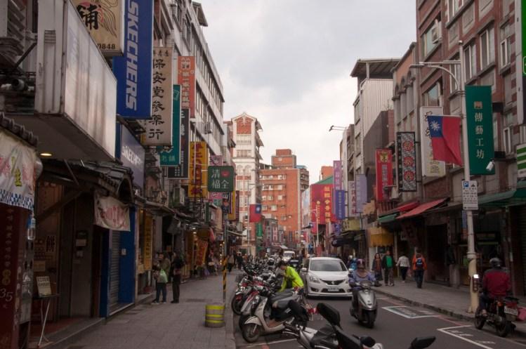 rue commerçante de Ximending