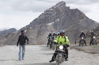 Sympathiques motards indiens
