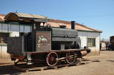 La locomotive de l'ancienne voie ferrée