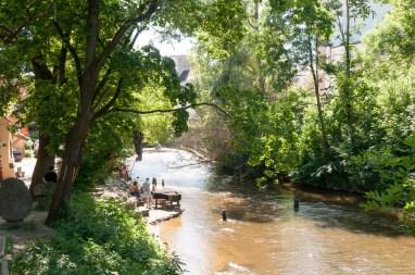 Rivière entre Uzipio et le centre historique