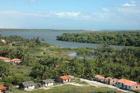 rio Preguiças vue depuis le phare