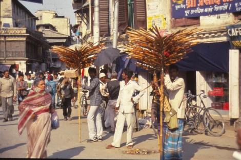 Népal rue de Katmandu
