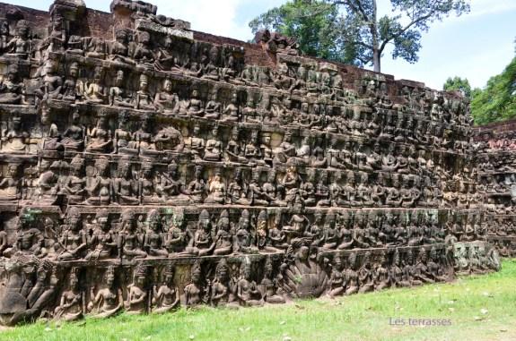 Angkor Thom, terrasse des éléphants